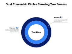 Dual Concentric Circles Showing Two Process Ppt PowerPoint Presentation Styles Template PDF