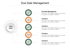 Due Date Management Ppt PowerPoint Presentation Ideas Graphics Example Cpb