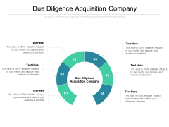 Due Diligence Acquisition Company Ppt PowerPoint Presentation Outline Inspiration Cpb