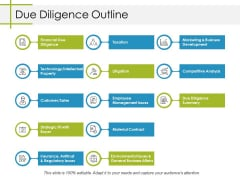 Due Diligence Outline Ppt PowerPoint Presentation Layout