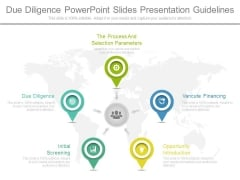 Due Diligence Powerpoint Slides Presentation Guidelines