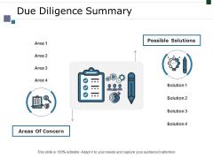 Due Diligence Summary Ppt PowerPoint Presentation Inspiration Smartart