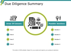Due Diligence Summary Ppt PowerPoint Presentation Layouts