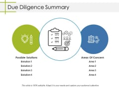Due Diligence Summary Ppt PowerPoint Presentation Pictures Background Image