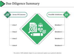 Due Diligence Summary Template 2 Ppt PowerPoint Presentation Model Elements