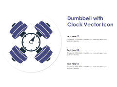 Dumbbell With Clock Vector Icon Ppt PowerPoint Presentation Icon Graphics Download