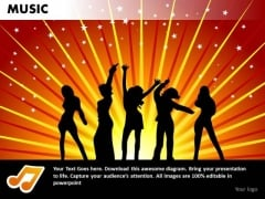 Dance Party Music PowerPoint Templates Editable Ppt Slides