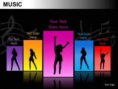 Dancing Music PowerPoint Slides And Ppt Diagram Templates