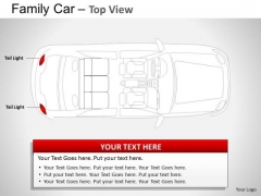 Danger Blue Family Car Top View PowerPoint Slides And Ppt Diagram Templates