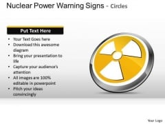 Danger Nuclear Power Warning Signs Circles PowerPoint Slides And Ppt Diagram Templates