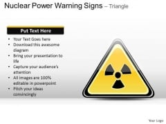 Danger Nuclear Power Warning Signs Triangle PowerPoint Slides And Ppt Diagram Templates