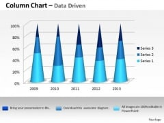 Data Analysis Excel 3d Process Variation Column Chart PowerPoint Templates