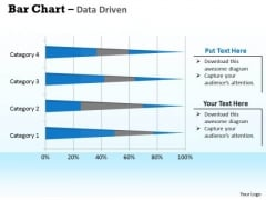 Data Analysis In Excel 3d Bar Chart For Interpretation PowerPoint Templates