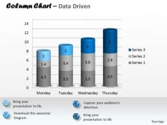 Data Analysis In Excel 3d Column Chart To Represent Information PowerPoint Templates
