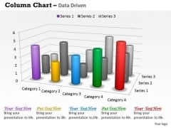Data Analysis In Excel 3d Survey For Sales Chart PowerPoint Templates