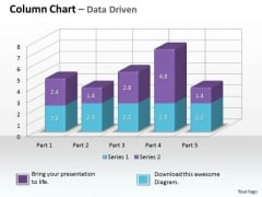 Data Analysis On Excel 3d Chart To Monitor Business Process PowerPoint Templates