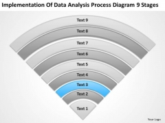 Data Analysis Process Diagram 9 Stages Example Business Plans PowerPoint Template