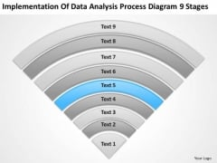 Data Analysis Process Diagram 9 Stages How To Draft Business Plan PowerPoint Templates