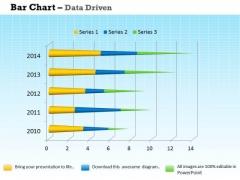 Data Analysis Programs 3d Bar Chart For Market Surveys PowerPoint Templates
