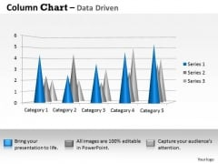 Data Analysis Techniques 3d Distribution Of In Sets PowerPoint Templates