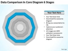 Data Comparison In Core Diagram 6 Stages How Do Make Business Plan PowerPoint Templates
