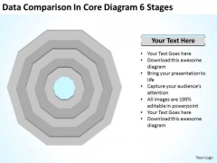 Data Comparison In Core Diagram 6 Stages Ppt Businessplan PowerPoint Templates