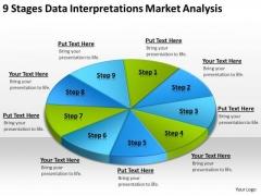 Data Interpretations Market Analysis Templates For Business Plan PowerPoint