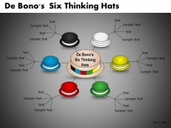 De Bonos Six Thinking Hats Network Diagram PowerPoint Ppt Slides
