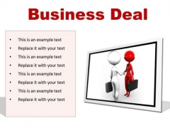 Deal Business PowerPoint Presentation Slides F
