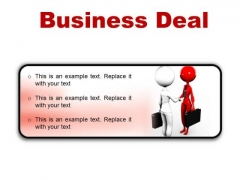Deal Business PowerPoint Presentation Slides R