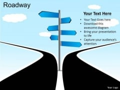 Decision Roadway PowerPoint Slides And Ppt Diagram Templates