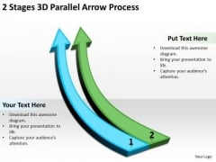 Define Parallel Processing 2 Stages 3d Arrow PowerPoint Slides