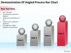 Demonstration Of Angled Process Bar Chart Ppt Business Plan PowerPoint Slide