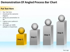 Demonstration Of Angled Process Bar Chart Ppt Business Plan PowerPoint Slides