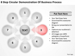 Demonstration Of Business PowerPoint Theme Process Start Up Plan Slides