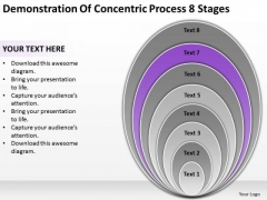 Demonstration Of Concentric Process 8 Stages Businessplans PowerPoint Templates