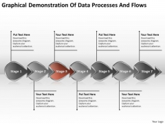 Demonstration Of Data Processes And Flows Business Flowcharting PowerPoint Templates