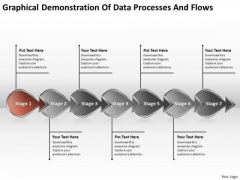 Demonstration Of Data Processes And Flows Production Plan For Business PowerPoint Slides