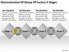 Demonstration Of Group Factors 4 Stages Business Plan PowerPoint Slides