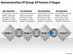 Demonstration Of Group Factors 4 Stages Ppt Online Business Plans PowerPoint Templates