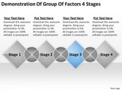 Demonstration Of Group Factors 4 Stages Small Business Planning PowerPoint Templates