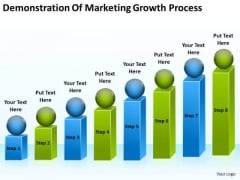 Demonstration Of Marketing Growth Process Easy Business Plan PowerPoint Slides
