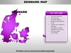 Denmark PowerPoint Maps