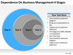 Dependence On Business Management 4 Stages Ppt Plans Sample PowerPoint Templates