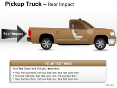 Desert Pickup Brown Truck Side View PowerPoint Slides And Ppt Diagram Templates