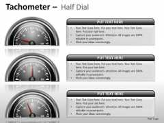 Design Tachometer Half Dial PowerPoint Slides And Ppt Diagram Templates