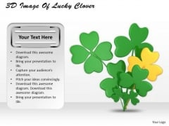 Develop Business Strategy 3d Image Of Lucky Clover Photos