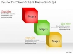 Develop Business Strategy Follow The Three Staged Steps Simple Strategic Plan Template