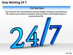 Develop Business Strategy Stop Working 24 7 Clipart Images