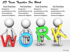Developing Business Strategy 3d Team Together For Work Concept